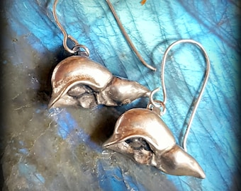 Anatomical Liver Earrings in Sterling Silver