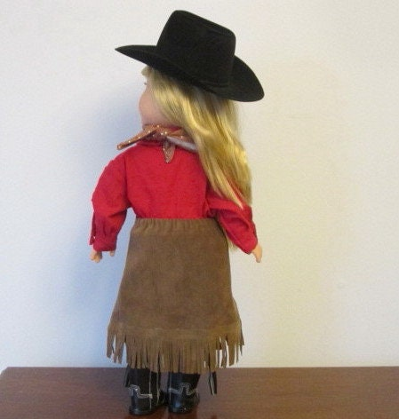 Cowgirl Western Doll Outfit fits 18 Inch Inch Inch American Girl Dolls - Western Doll Clothes Cowgirl Hat Fringe Skirt Shirt Cowgirl  botas -JESSE e7c3e7