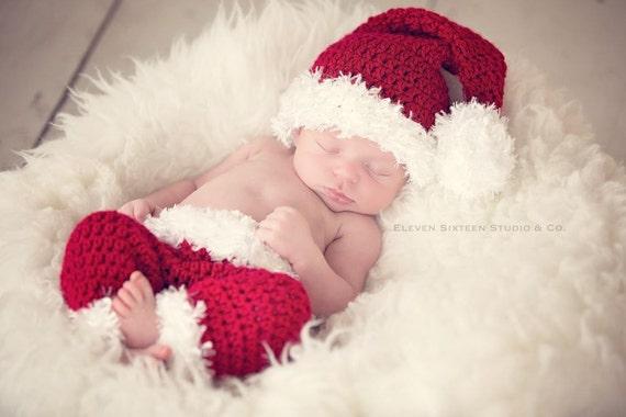 Baby Santa Hat and Pants Santa Claus Baby Santa Santa  031bf0320f0