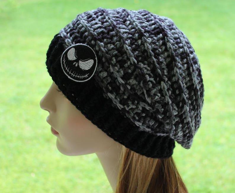 fc3b7ed309b Jack Skellington Beanie Slouchy Hat Women s Hats