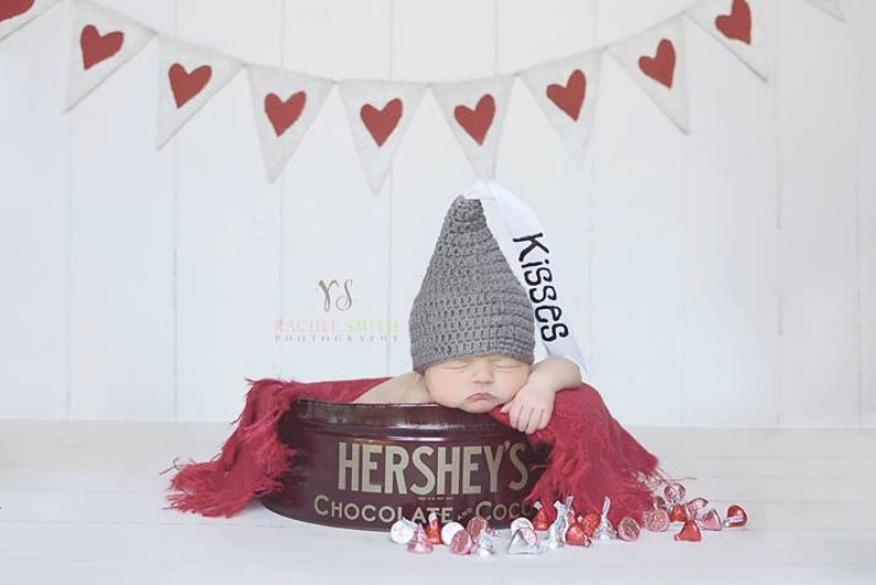 Crochet Baby Hat Hershey Kiss Hat Newborn Photo Prop Infant  033ca2358183