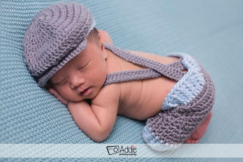 2c1b4ea332c Newborn Baby Shorts with Golfers Cap and Bow Tie Photo Prop