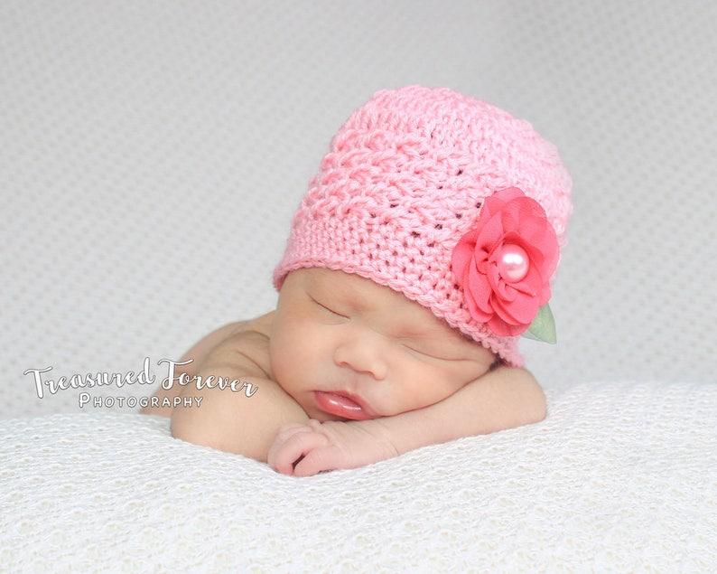 Crochet Baby Hat Baby Girl Beanie Newborn Hat Baby Girl Etsy