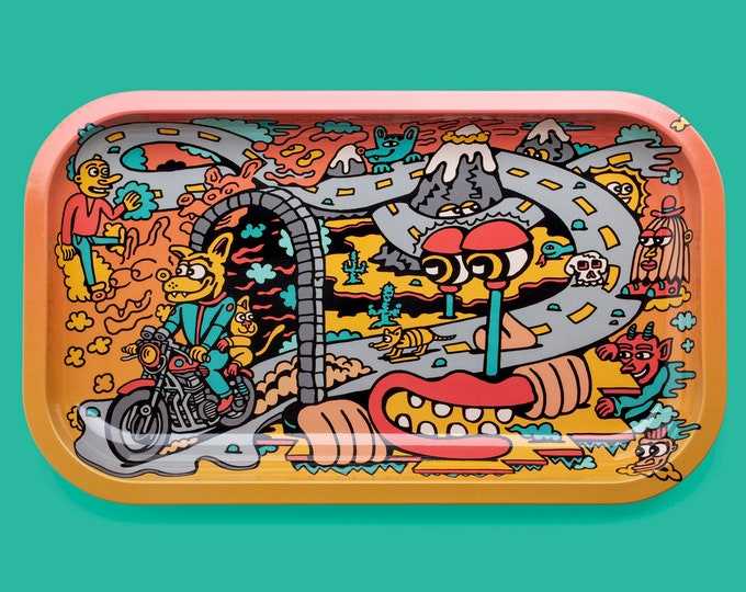 Featured listing image: Road Trip Killer Acid Metal Rolling Tray