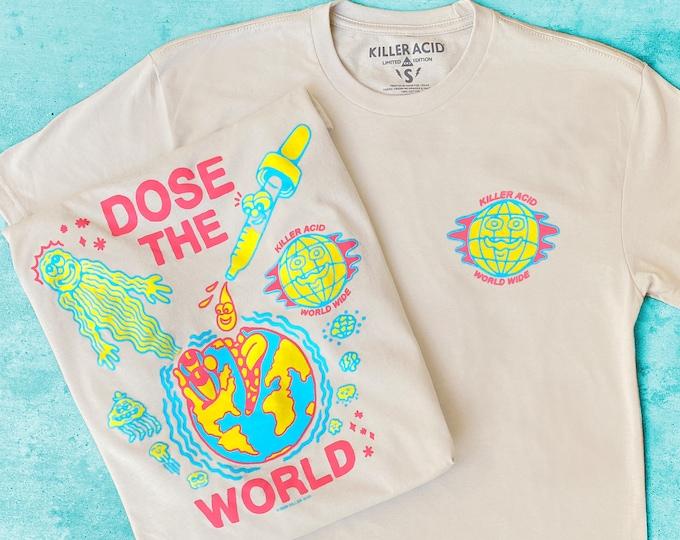 Featured listing image: Killer Acid World Wide Cream T-shirt