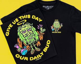 Daily Bud Black Killer Acid Tshirt