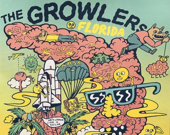 Growlers FLORIDA poster (Screen Print)