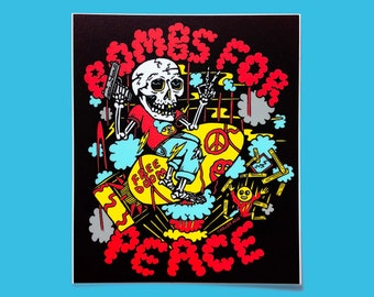 Bombs For Peace Sticker