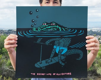 Secret Life of Alligators Screen Print