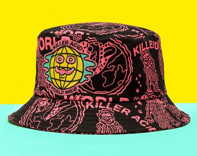 Featured listing image: Killer Acid World Wide Bucket Hat