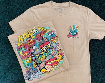 Road Trip Killer Acid Cream Tshirt