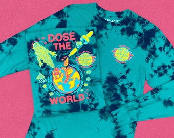 Dose The World Long Sleeve Seafoam Wash Shirt