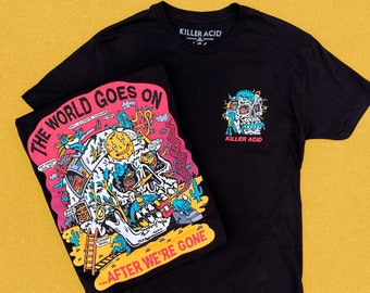 The World Goes On... Black Killer Acid Tshirt