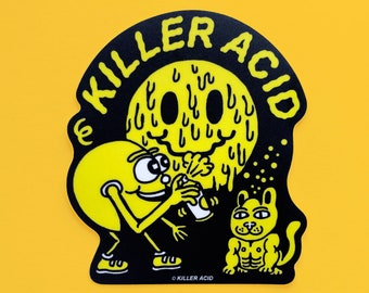 Killer Acid Smiles Sticker