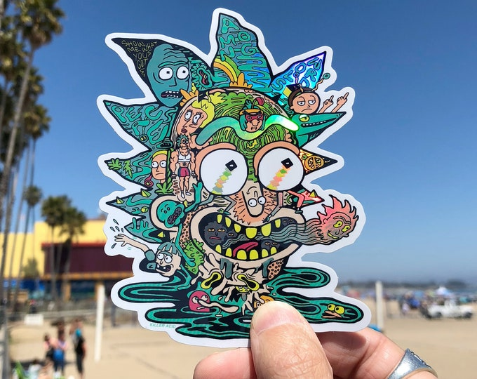 Featured listing image: Sticker Rick Holographic Sticker