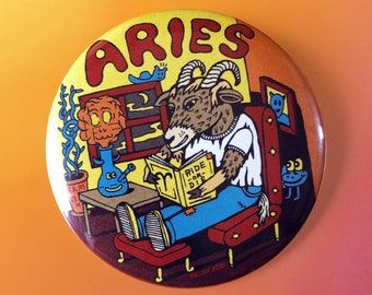"Aries 2.25"" Button"