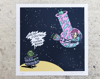 Space Oddity mini print