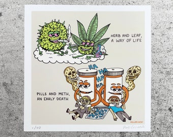 Herb & Leaf mini print