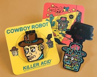 Cowboy Robot Enamel Pin