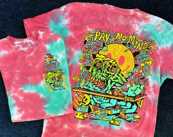 Pay No Mind Cotton Candy Crystal Wash T-shirt