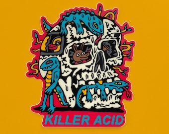 Killer Acid World Goes On Sticker