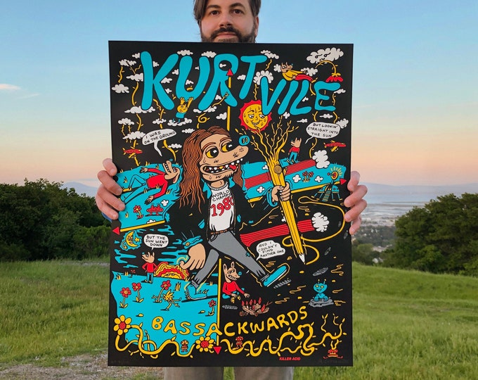 Featured listing image: Kurt Vile Official Tour Poster