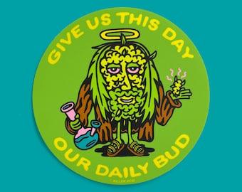 Jesus Bud Sticker