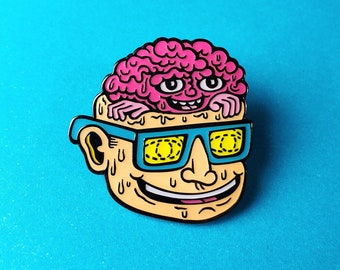 Head Popper Enamel Pin