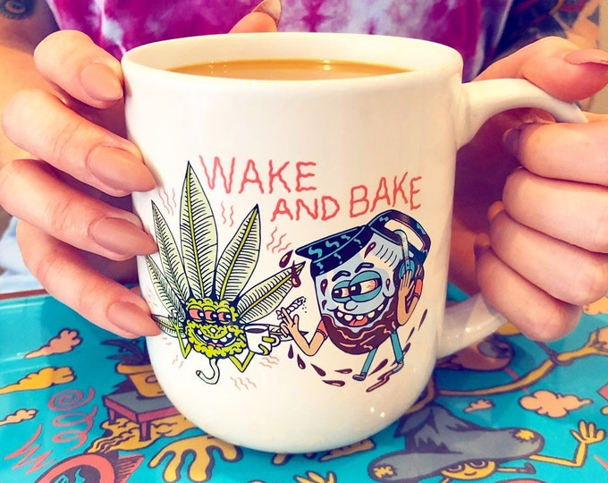 Featured listing image: Wake and Bake Coffee Mug