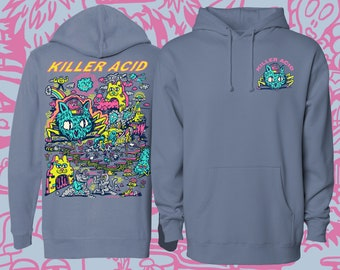 Spaced Invasion Slate Gray Killer Acid Hoodie