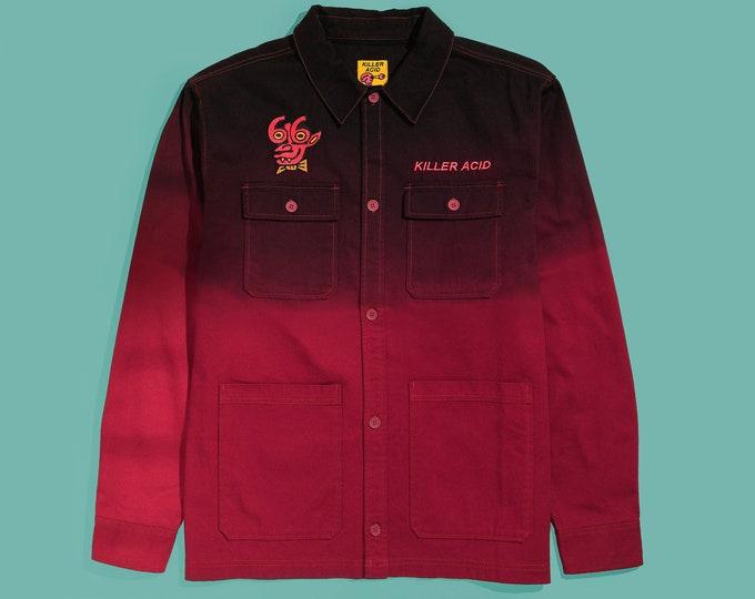 Featured listing image: Killer Acid Devil Friend Long Sleeve Button Up Shirt