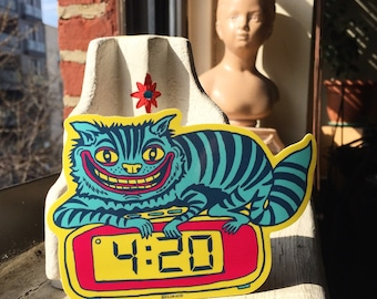 4:20 Cat Sticker