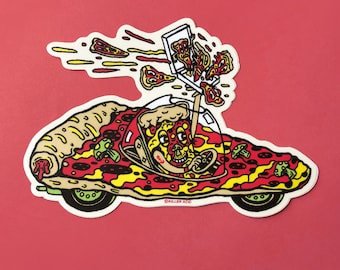 Pizza Car Sticker