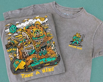 Take A Hike Vintage Gray Pigment Wash T-Shirt