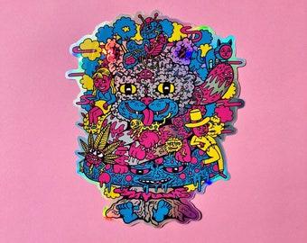 "Cheshire OG 6"" holographic sticker"