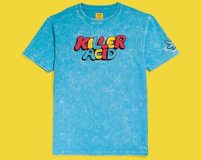 Featured listing image: Killer Acid Big Logo Blue Mineral Wash T-Shirt