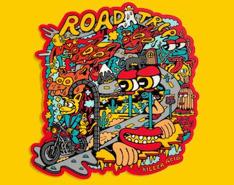 Road Trip XL Killer Acid Sticker