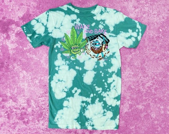 Wake and Bake Killer Acid Hazy Green T-shirt