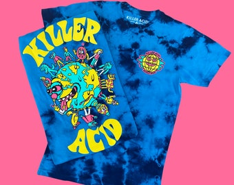 Killer Acid Blue World Crystal Wash T-shirt