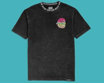 Killer Acid Flip Your Lid Black Mineral Wash T-Shirt
