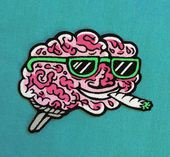 Brain On Drugs Patch by Etsy