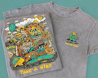 Take A Hike Vintage Gray Pigment Wash T-Shirt