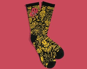 Killer Acid Smile Crew Socks