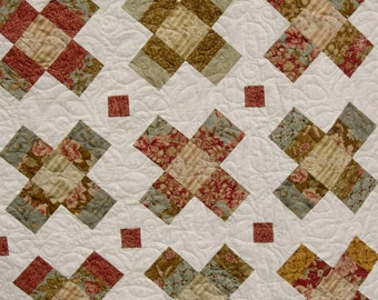 Quilt Pattern  - Baby to King - Jelly Roll - Layer Cake - Charm Square  - Gracie Square   PDF INSTANT DOWNLOAD