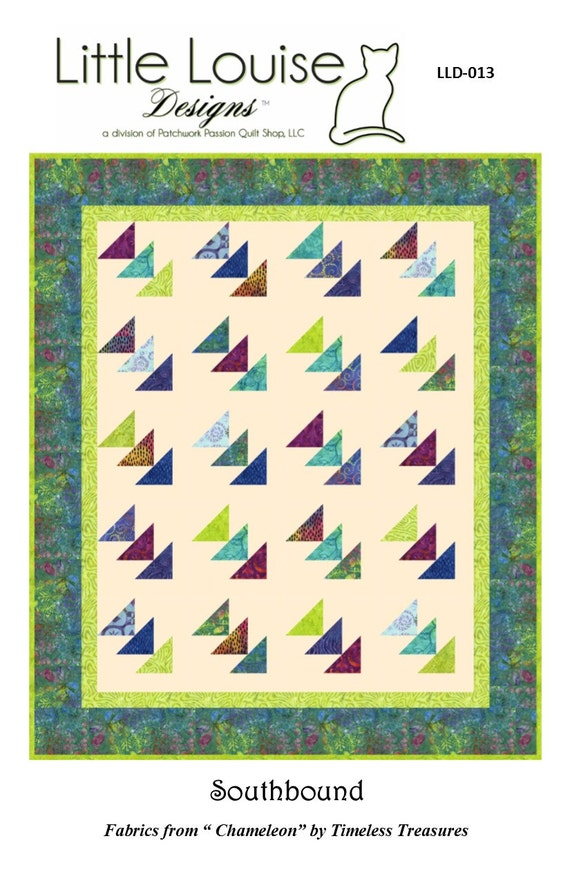 Quilt Pattern Southbound Flying Geese Quilt Easy With Etsy