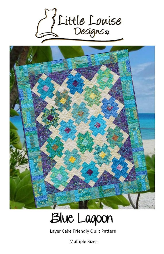Quilt Pattern Blue Lagoon Baby To King Size Layer Cake Etsy