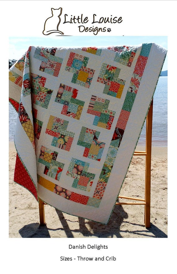 Quilt Pattern Danish Delights Layer Cake Quilt Pattern 3 Etsy