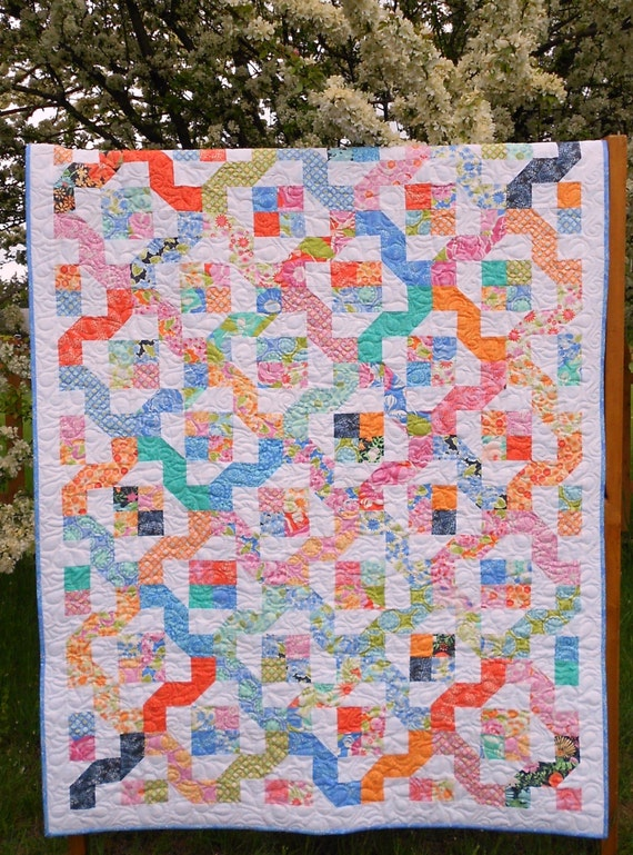 Winding Nine Patch Quilt Pattern Layer Cake Or Jelly Roll Etsy