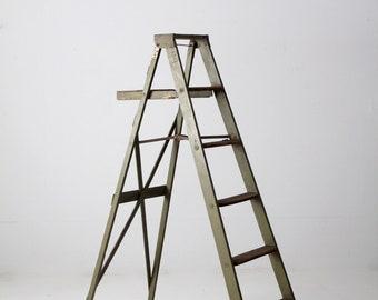 vintage rustic wood ladder