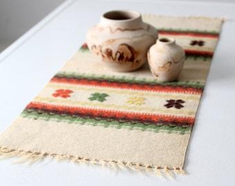 vintage southwestern woven table runner